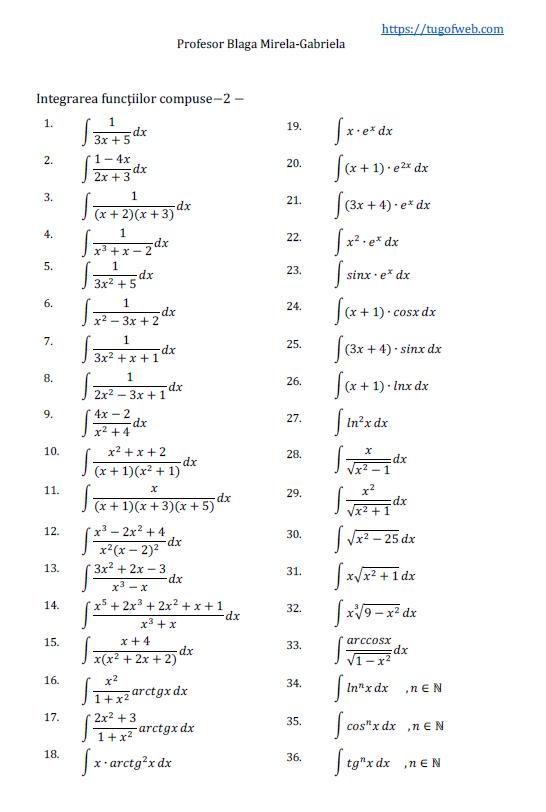 Integrarea functiilor compuse-2