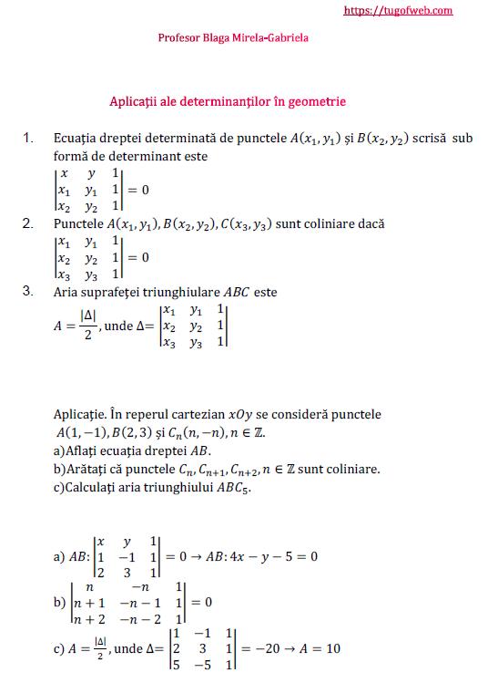 Aplicatii ale determinantilor in geometrie.png