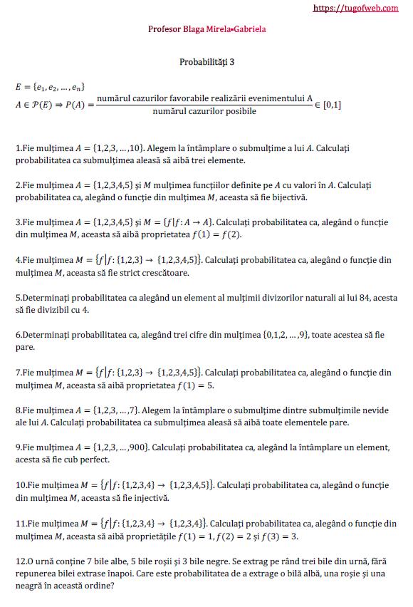 Probabilitati 3