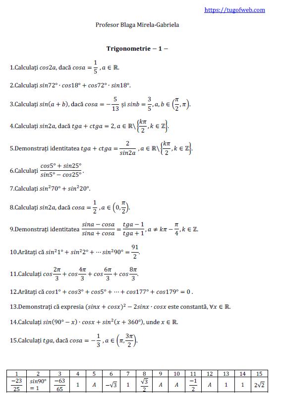Trigonometrie-1