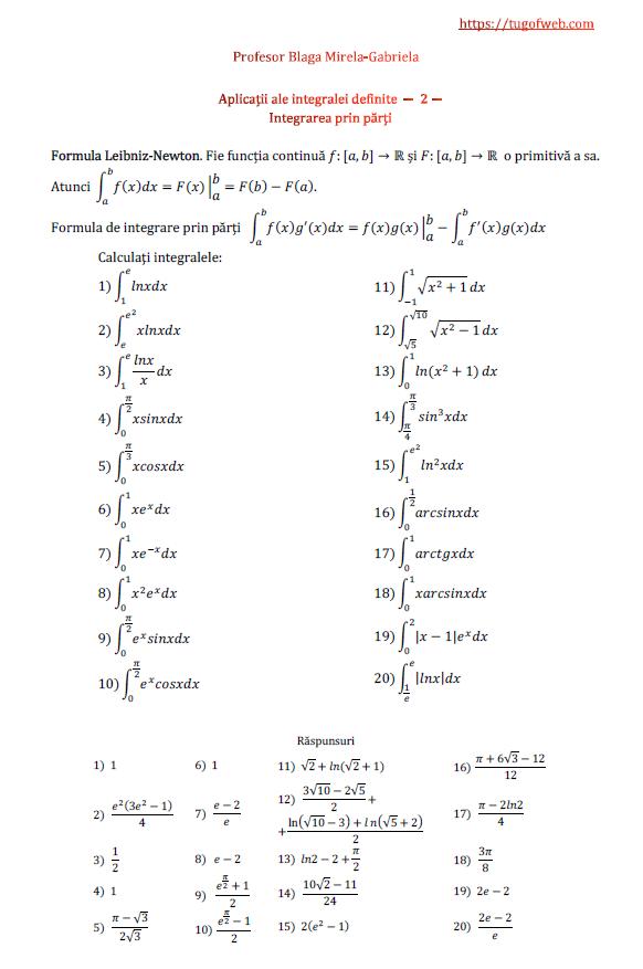 Aplicatii ale integralei definite - 2 - integrarea prin parti.png