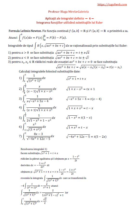 Aplicatii ale integralei definite - 6 - integrarea functiilor utilizand substitutiile lui Euler.png