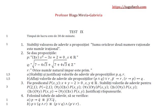 9 Logica matematica