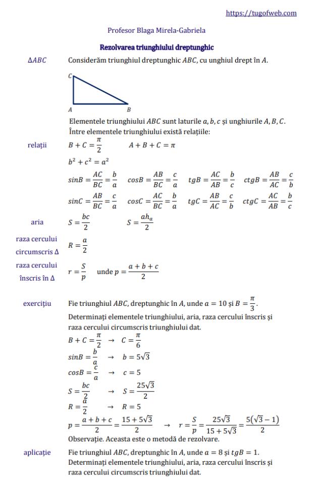 rezolvarea_triunghiului_dreptunghic