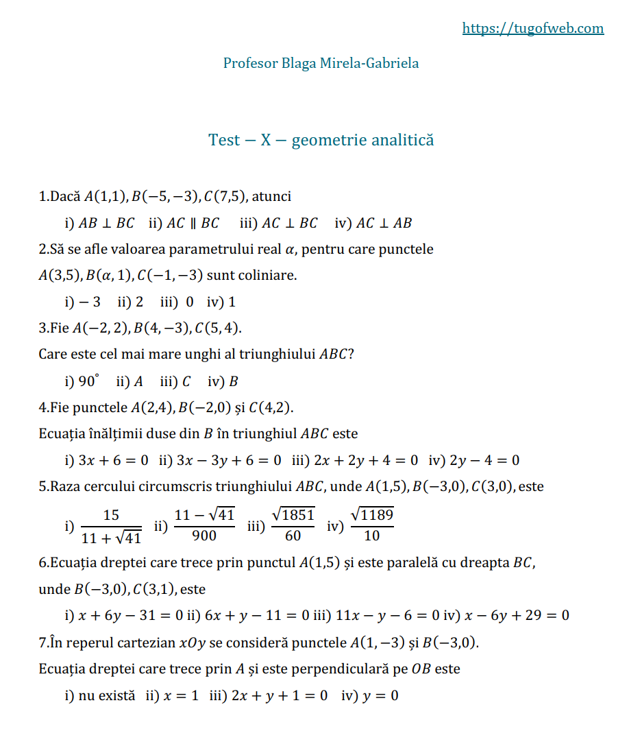 10_geometrie_analitica_grile_Blaga