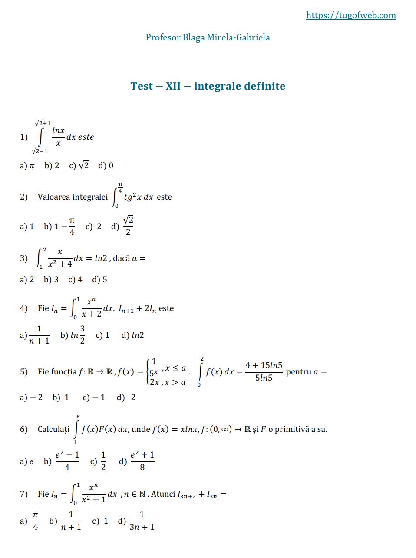 12_integrale_definite_1_grile_Blaga