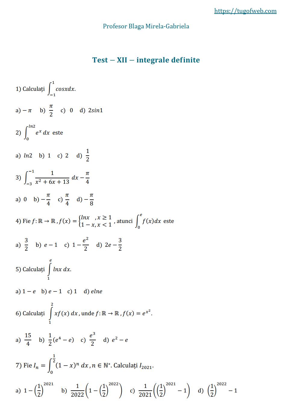 12_integrale_definite_2_grile_Blaga